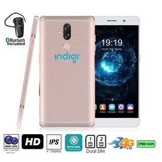 4G LTE Unlocked SmartPhone by Indigi (OctaCore @ 1.3GHz + Android 7 + 13MP CAM + 2SIM + Fingerprint) + Bluetooth Headset