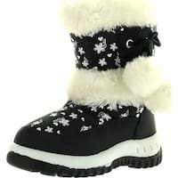 Lj-Adorababy Girl's Winter Snow Boots - Navy