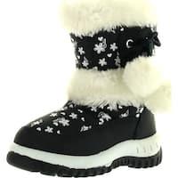 Lj-Adorababy Girl's Winter Snow Boots - Navy