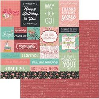 """Tiny Prints Cut Apart Cards - Vintage Girl Double-Sided Cardstock 12""""X12"""""""