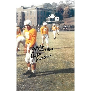 Andy Kozar signed Tennessee Volunteers Vintage Color 4.5x6.5 Photo- To John Best Wishes