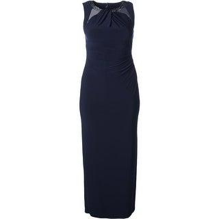Lauren Ralph Lauren Womens Geneva Formal Dress Beaded Sleeveless