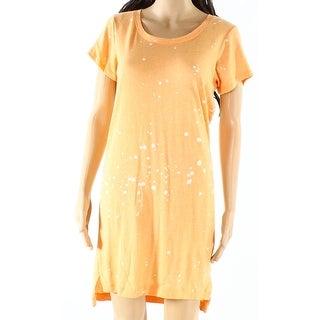 Alternative NEW Orange Womens Size Small S Scoop Neck Shirt Dress