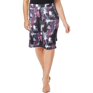 Modamix Womens A-Line Skirt Abstract Print Knee-Length