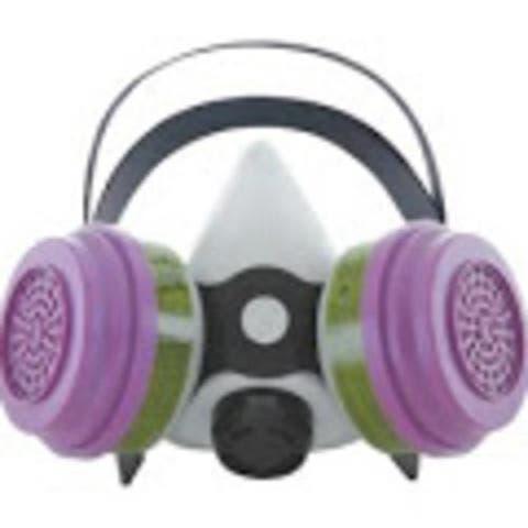 Sperian 375884 Survivair Gray Silicone Multi-Purpose Half Mask Respirator, Large