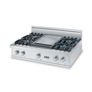 Viking VGRT5366B 36 Inch Wide Built-In Natural Gas Cooktop with TruPower Plus 18500 BTU Burner