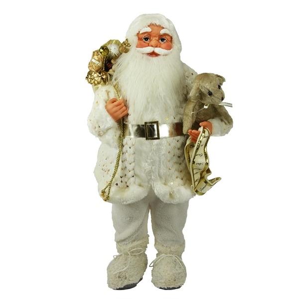 "24"" Winter Wonderland Nordic Santa Claus Christmas Table Top Figure"