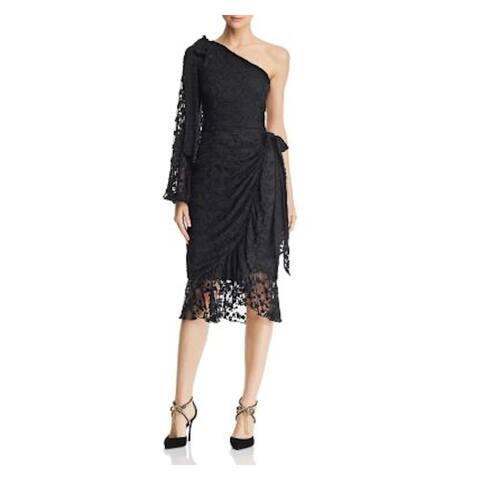 KEEPSAKE Black Long Sleeve Below The Knee Dress M