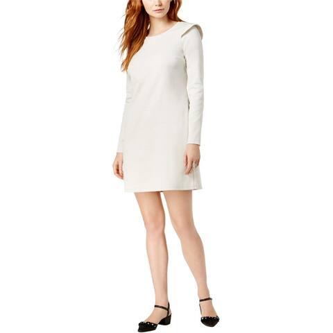 Maison Jules Womens Ruffled Shift Dress