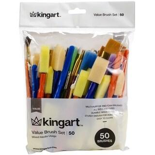 Paint Brush Value Pack 50/Pkg-Mixed Media