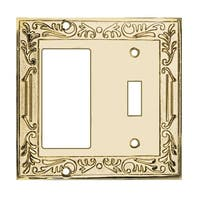Victorian Switch Plate GFI Toggle PVD Solid Brass | Renovator's Supply