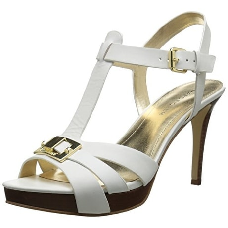 Marc Fisher Womens VARIKA2 Leather Open Toe Casual Strappy Sandals