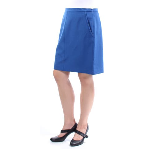 ANNE KLEIN Womens Blue Above The Knee A-Line Wear To Work Skirt Size: 10