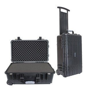 Elkton Outdoors 22 Rolling Hard Gun Case Fully Customizable Pistol Case Crush Resistant Waterproof