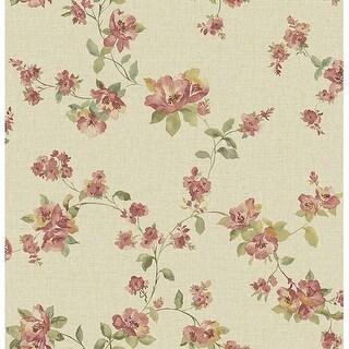 Brewster 2669-21763 Wen Red Festival Floral Wallpaper