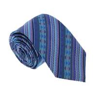 Missoni U5053 Blue/Pink Graphic 100%  Silk Tie - 60-3