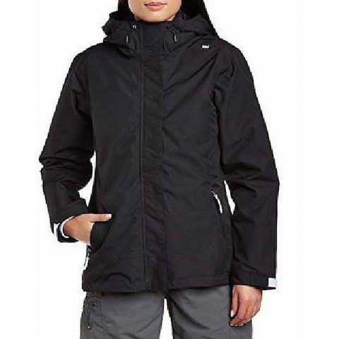 Helly Hansen Womens Squamish CIS Rain Jacket Black Size Large L Hooded