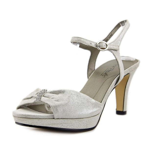 Rose Petals by Walking Cradles plaza Women Synthetic Silver Slingback Heel
