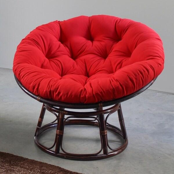 International Caravan Bali Papasan Chair with Solid Cushion. Opens flyout.