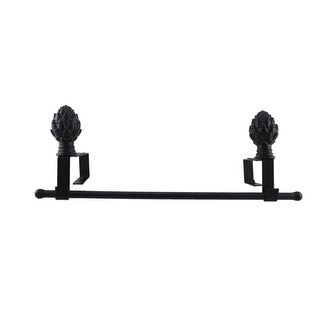 Black Powdercoated Metal Adjustable Deck Railing Garden Flag Holder