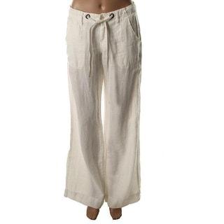 Joie Womens Irreplaceable Linen Flat Front Casual Pants - 6