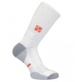 Vitalsox VT 0313T Tennis Extra Cushion Crew Socks, White - Small