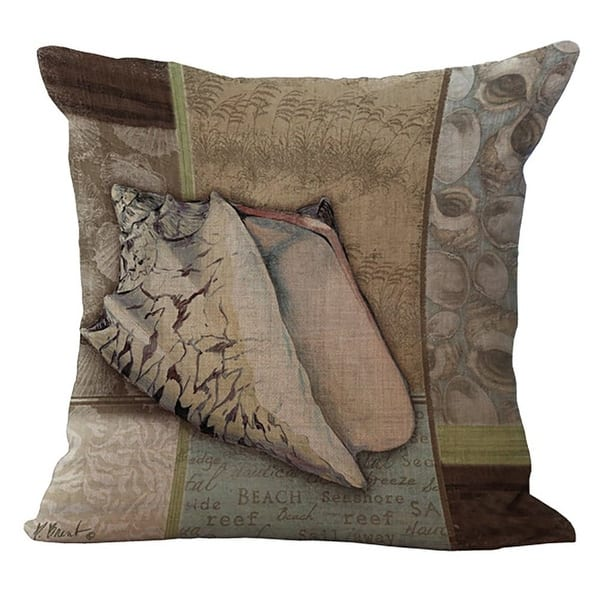 Sea World Printed Cushion Cover Chezmax Cotton Linen Throw Pillow Case Sham Form Slipover Square Zippered Patterned Pillowcase Overstock 27436031