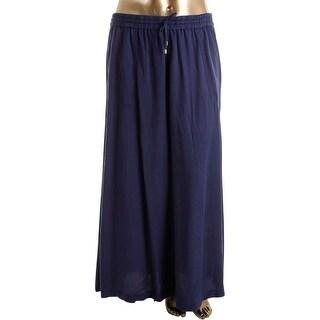 Lauren Ralph Lauren Womens Maxi Skirt Side Split Pockets
