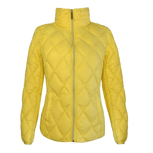 Michael Michael Kors Womens Yellow Packable with Hidden Hood