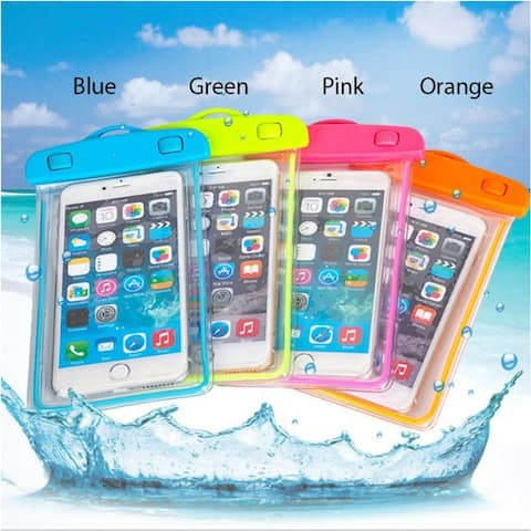 Everglow Waterproof Smartphone Pouch With Glowing Strip
