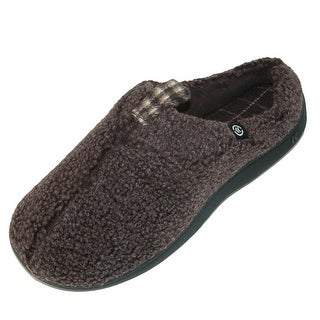 Totes Men's Frosted Berber Thomas Hoodback Slipper