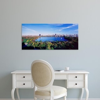 Easy Art Prints Panoramic Image 'Buildings in a city, Central Park, Manhattan, New York City, New York ' Canvas Art