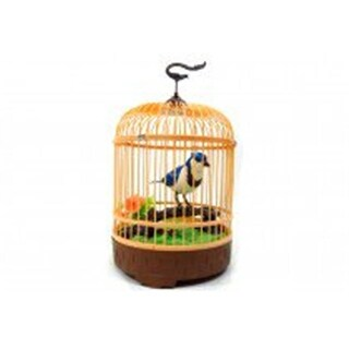 Az Import & Trading Singing & Chirping Bird in Cage - Realistic