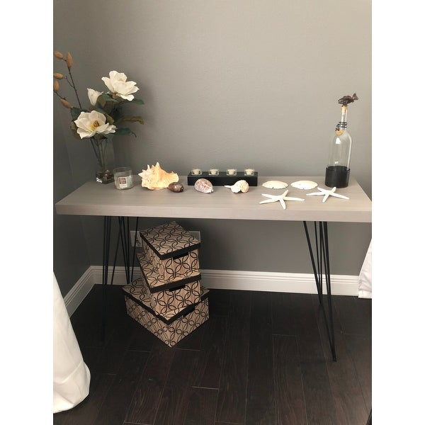 Safavieh Wolcott Grey Black Lacquer Console Free Shipping Today 9048935