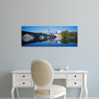 Easy Art Prints Panoramic Image 'Arch bridge across a river, Minneapolis, Hennepin County, Minnesota, USA' Canvas Art