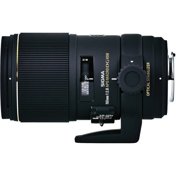 Sigma 150mm f/2.8 EX DG OS HSM APO Macro Lens (For Sigma) - Black
