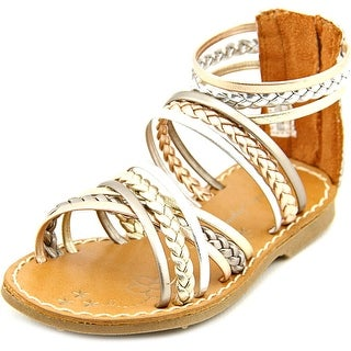 Sarah Jayne Carol Open Toe Synthetic Gladiator Sandal