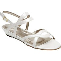 newest eea6a 3742f Rockport Women s Total Motion Zandra Strappy Sandal White Leather