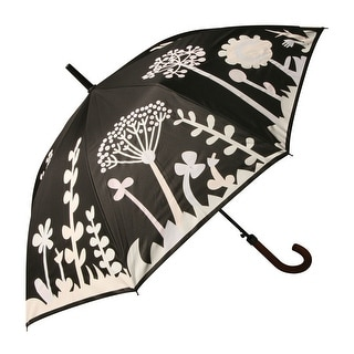 Unisex Adult Color-Changing Flowers & Dragonfly Umbrella - Full Sized Auto Open