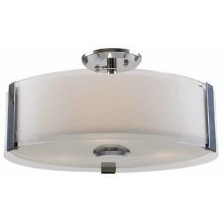 "DVI Lighting DVP14512 Zurich 16"" Width 3 Light Semi-Flush Ceiling Fixture"
