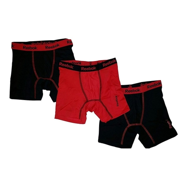 d611199f89eb Shop Reebok 3-Pack Boys  Stretch Performance Boxer Briefs - Free ...