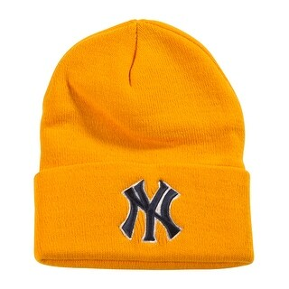 New York Yankees Cuff Beanie, Yellow
