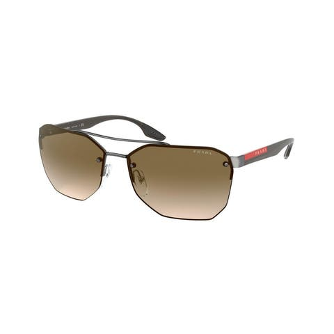 Prada Linea Rossa PS 54VS 5AV1X1 63 Gunmetal Man Irregular Sunglasses
