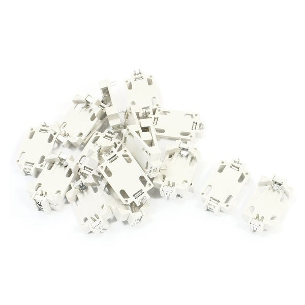 Unique Bargains 20pcs 3 Pins DIP Type Coin Cell Button Battery Holder Socket for CR2032