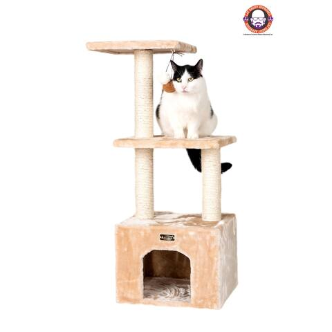 Armarkat 3-tier Cat Tree Furniture with Sisal Scartching Post
