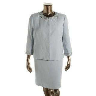 Tahari ASL Womens Felicia Embellished 2PC Skirt Suit