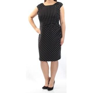 RALPH LAUREN $135 Womens New 1687 Black White Polka Dot Sheath Dress 16 B+B