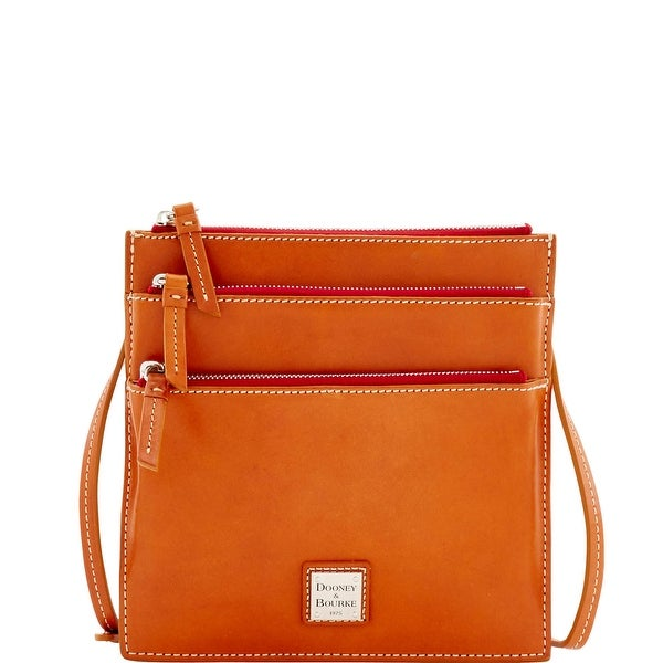 Dooney & Bourke Florentine Toscana North South Triple Zip (Introduced by Dooney & Bourke at $198 in Dec 2016) - Natural