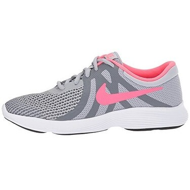 purchase cheap 0a4c5 af56b Shop NIKE Girls Revolution 4 (GS) Running Shoe, Wolf GreyRacer Pink-Cool  Grey-White - Free Shipping Today - Overstock.com - 20999606