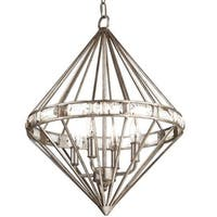 "Park Harbor PHPL5184 17"" Wide 4 Light Foyer Pendant with Glass Accents"